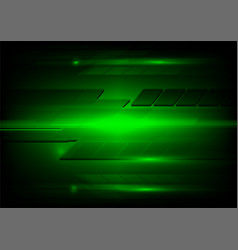 abstract dark green and light technology design vector image vector image
