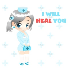 anime nurse vector image vector image