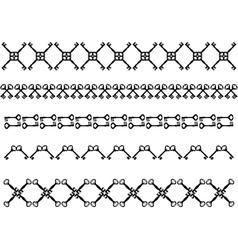 Antique keys strokes vector image