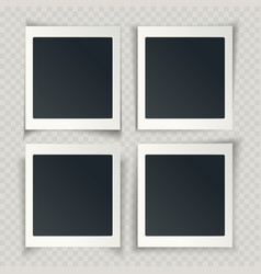 blank photo frames with different shadows on the vector image