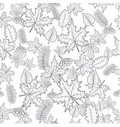 pattern seamless of autumn leaves vector image