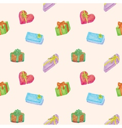 Seamless of colorful gift boxes vector image vector image