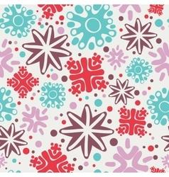 simple handmade snowflakes seamless pattern vector image
