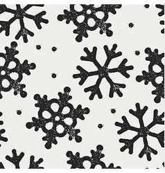 Snowflakes pattern seamless Stamp textured symbols vector image