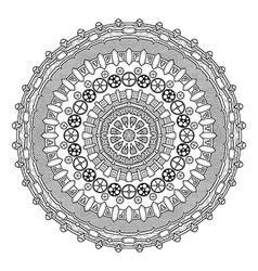 Steampunk round ornament vector image
