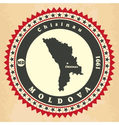 Vintage label-sticker cards of Moldova vector image vector image