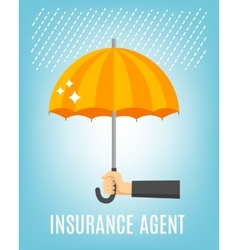 Insurance agent background vector