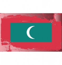 Maldives national flag vector image vector image