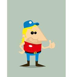 Cartoon truck driver vector image