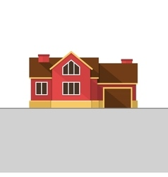 Classic English House Facade Red Brick Home vector image vector image