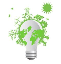 clean eco light bulb vector image
