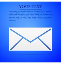 Envelope flat icon on blue background Adobe vector image