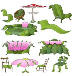fantasy furniture vector image vector image