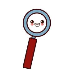 magnifying glass symbol kawaii cartoon vector image vector image