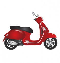 red scooter vector image vector image