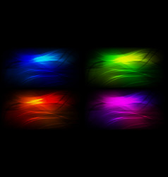 set of graphic backgrounds vector image
