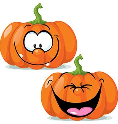funny pumpkin character - vector image