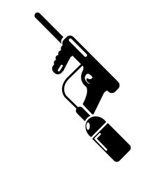 paintball gun charging icon simple style vector image