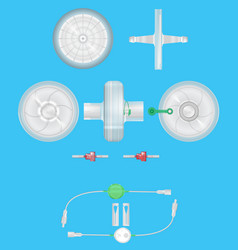 A set of medical filters for various purposes 3d vector