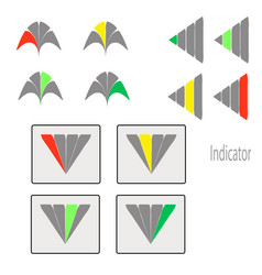 a set of performance indicators from shapes vector image
