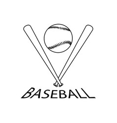 abstract baseball label vector image