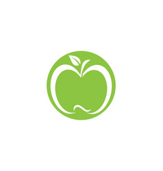 apple design icon logo template vector image