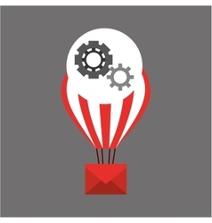 Balloon email sending gears vector