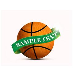 basketball party with a basketball ball vector image