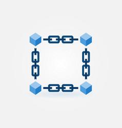 Blockchain blue modern icon or element vector