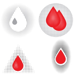 blood drop icons vector image