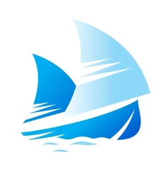 Blue Ship sign vector image