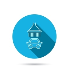 Car wash icon Cleaning station with shower sign vector image