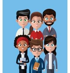 Cartoon people team work professional vector
