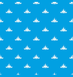 castle pattern seamless blue vector image