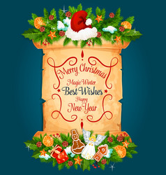 christmas new year holiday greeting card vector image