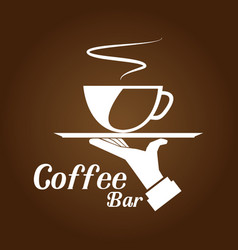coffee bar brown background vector image