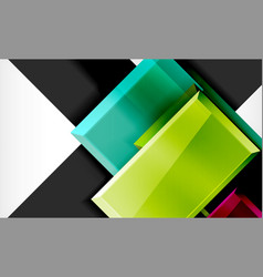 Colorful square and rectangle blocks background vector