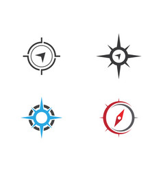 compass logo template vector image