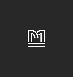 creative letter m logo monogram identity vector image