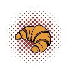 Croissant comics icon vector
