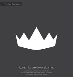 Crown premium icon vector