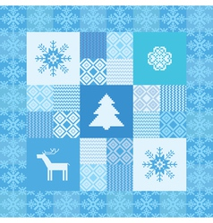 decorative seamless patchwork background christmas vector image