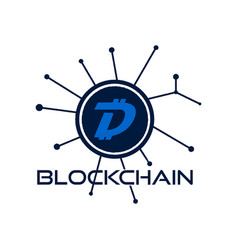 digibyte blockchain logo graphic dgb digital vector image
