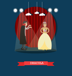 Dracula movie or theatrical performance vector