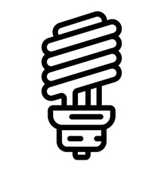 economy bulb icon outline style vector image