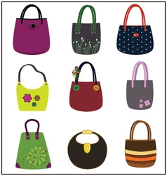 Fashion purse vector