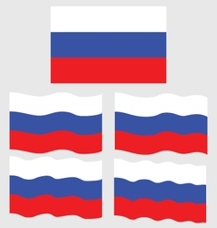 Flat and Waving Flag of Russia vector