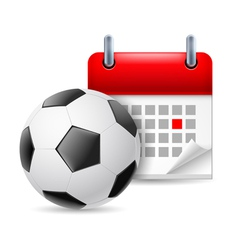 Football and calendar vector image