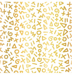 geometric gold foil seamless pattern hand vector image