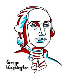 George washington portrait vector